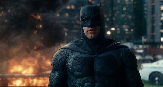 "Ben Affleck as Batman in ""Justice League."""