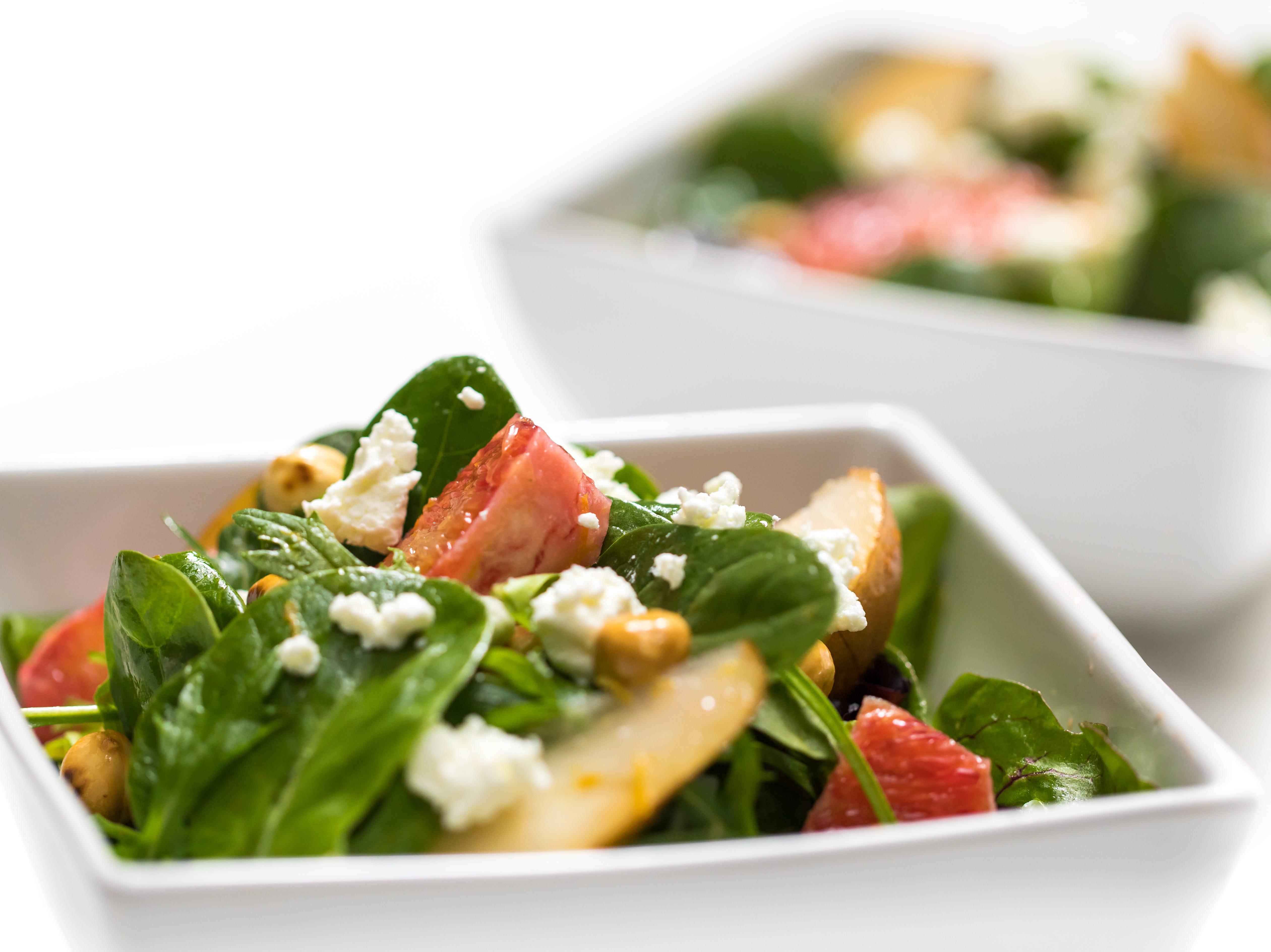 Pear salad with blood orange vinaigrette