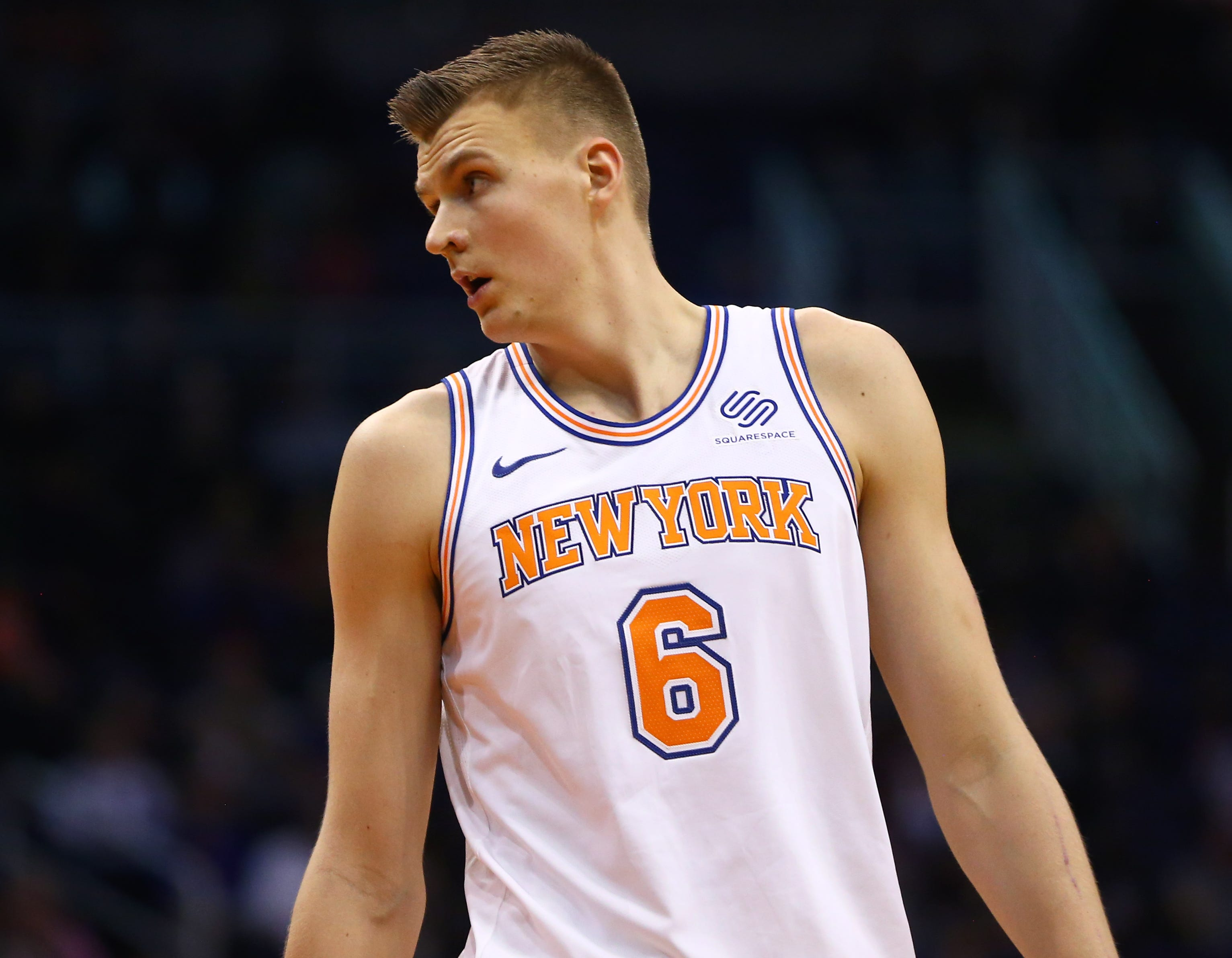 Kristaps Porzingis is headed from the Big Apple to Big D.