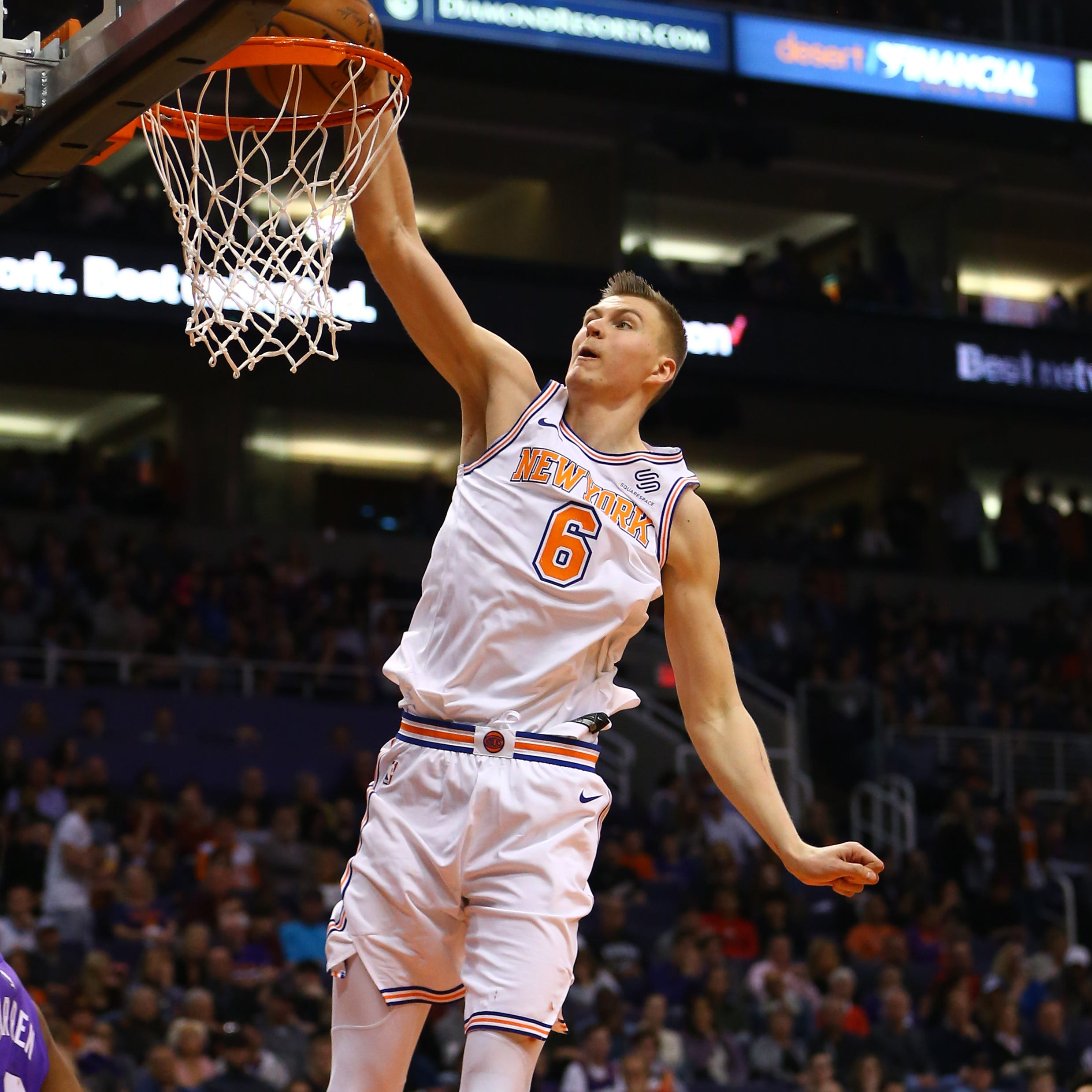 Kristpas Porzingis is headed from the Big Apple to Big D.
