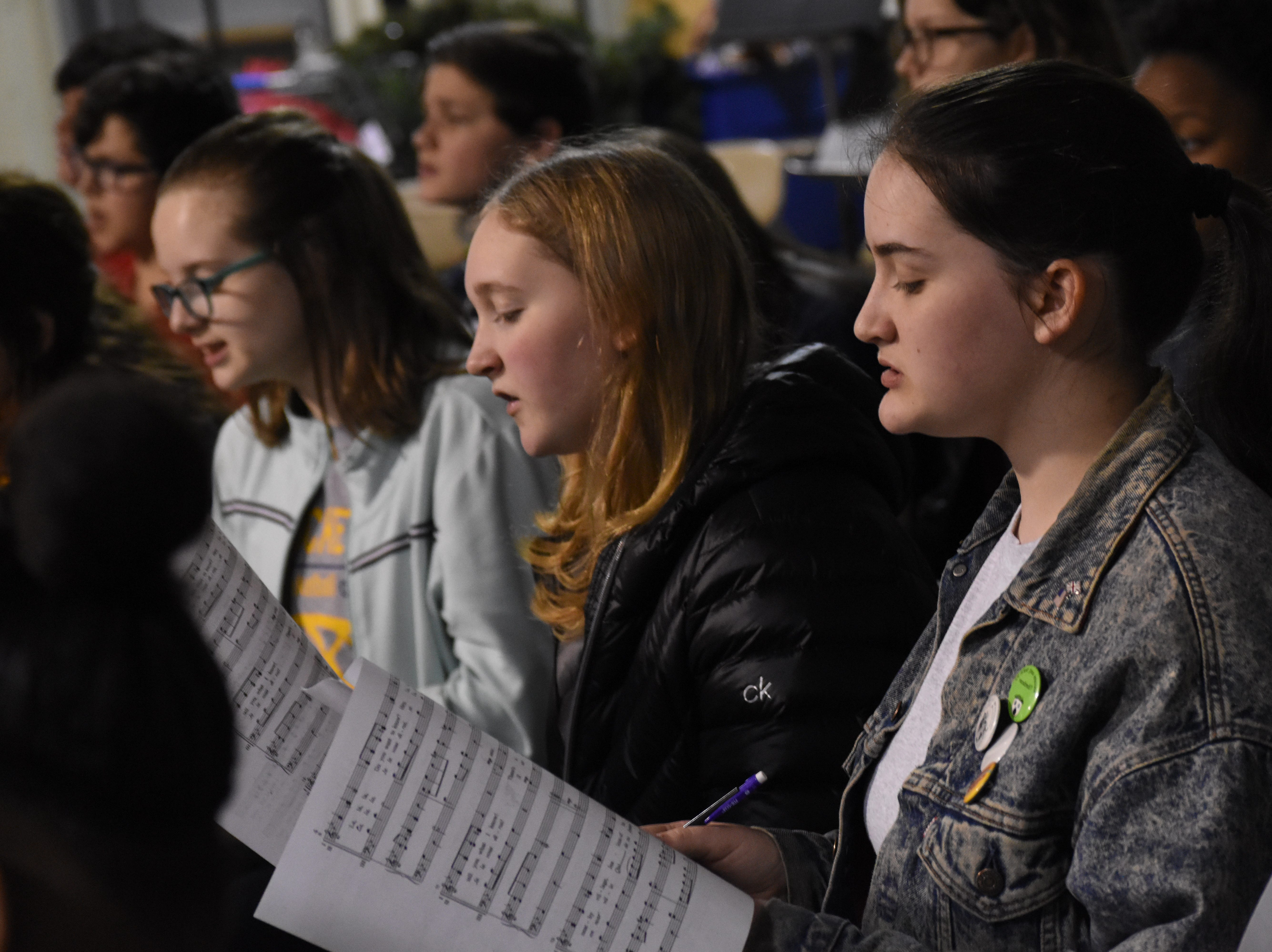 About 400 students from Avoyelles, Natchitoches, Grant and Rapides parishes rehearse Friday, Feb. 1, 2019 at Pineville High School for the District II Vocal Music Teachers Association's annual Honor Choir Students are representing 12 area schools. The Honor Choir Concert is set for 11 a.m. Saturday, Feb. 2, 2019 in the PHS auditorium. 
