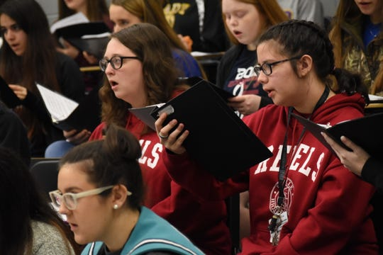 About 400 students from Avoyelles, Natchitoches, Grant and Rapides parishes rehearse in 2019 at Pineville High School for the District II Vocal Music Teachers Association's annual Honor Choir Students are representing 12 area schools.  The District II Honor Choir will perform  at 11 a.m. Saturday, Feb. 1, 2020 at PHS.