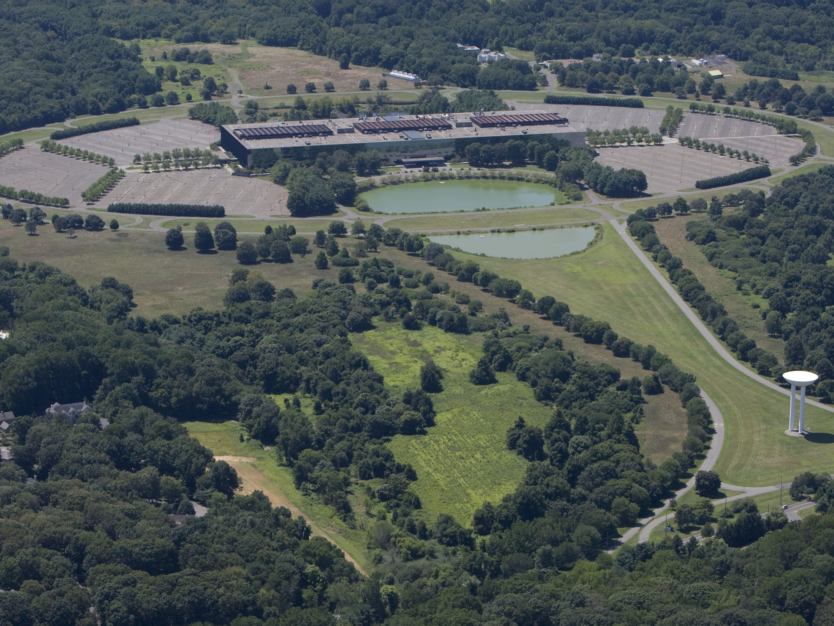 Aerial photos of Monmouth and Ocean lakes and rivers. For story on water quality. Bell Labs in Holmdel...8/12/11
