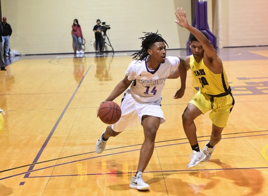 HSU freshman Steven Quinn (14) is one of the new faces making a difference for the Cowboys as they enter the ASC tournament starting on Thursday.
