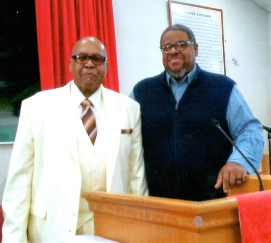 The Rev. Andrews Penns, left, and Dr. Steven C. Staten, guest speaker at a January service honoring Penns for 31 years at Valley View Baptist Church.