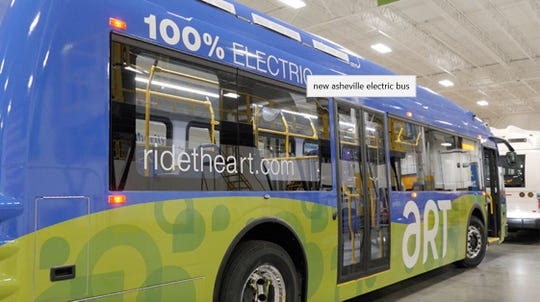 Asheville plans to deploy five electric buses by spring.