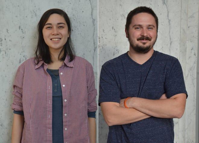 Battle Creek Enquirer reporters Natasha Blakely and Nick Buckley.