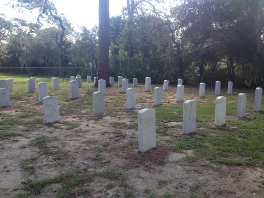 The Friends of the Cemetery group is seeking donations to put down new sod on this section of the Brevard County Veterans Cemetery in Titusville.