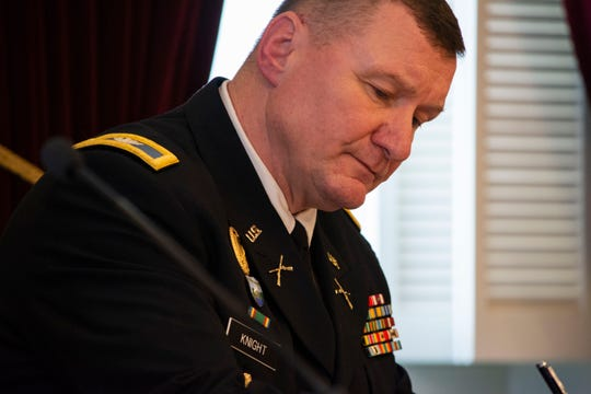 Col. Greg Knight is running to become the next Adjutant General. Pictured on Feb. 1 2019