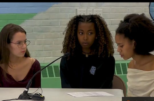 South Burlington High School Student Diversity/Justice Union leaders in June 2018, ask the School Board to approve a proposal to fly a Black Lives Matter flag in February 2019.