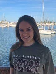London sophomore basketball player Hannah Cazalas.