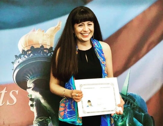 Julieta Garibay became a naturalized citizen on April 6, 2018.
