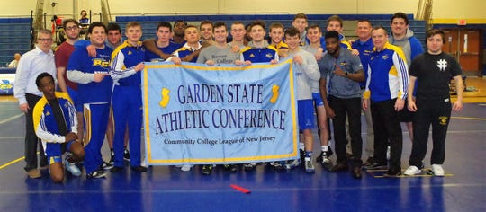 The Rowan College at Gloucester County wrestling team won the Garden State Athletic Conference title last weekend.