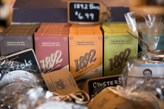 Chocolate bars from 1892 Chocolate based in Collingswood.
