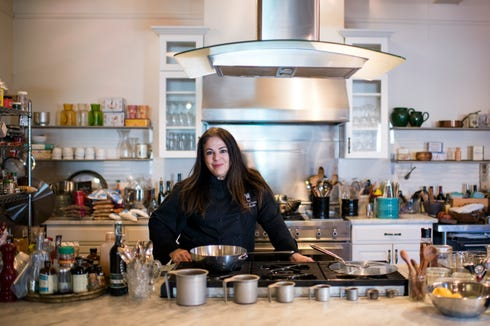 """It's really fun to have women doing something for themselves,'' says Chef Kathy Gold of In The Cooking School and Partnership for Haddonfield, ""even though they may be out shopping (the night before Valentine's Day) for a significant other.''"