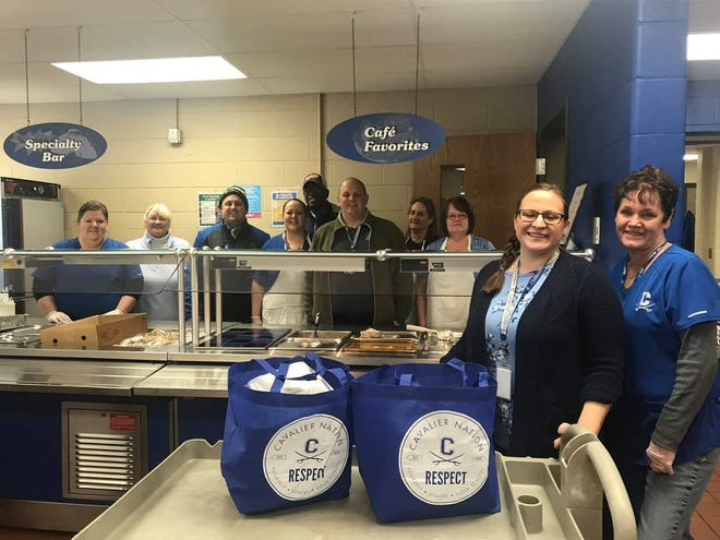 Food service workers and staff volunteered to make and deliver meals to students in need and other community organizations on Friday.