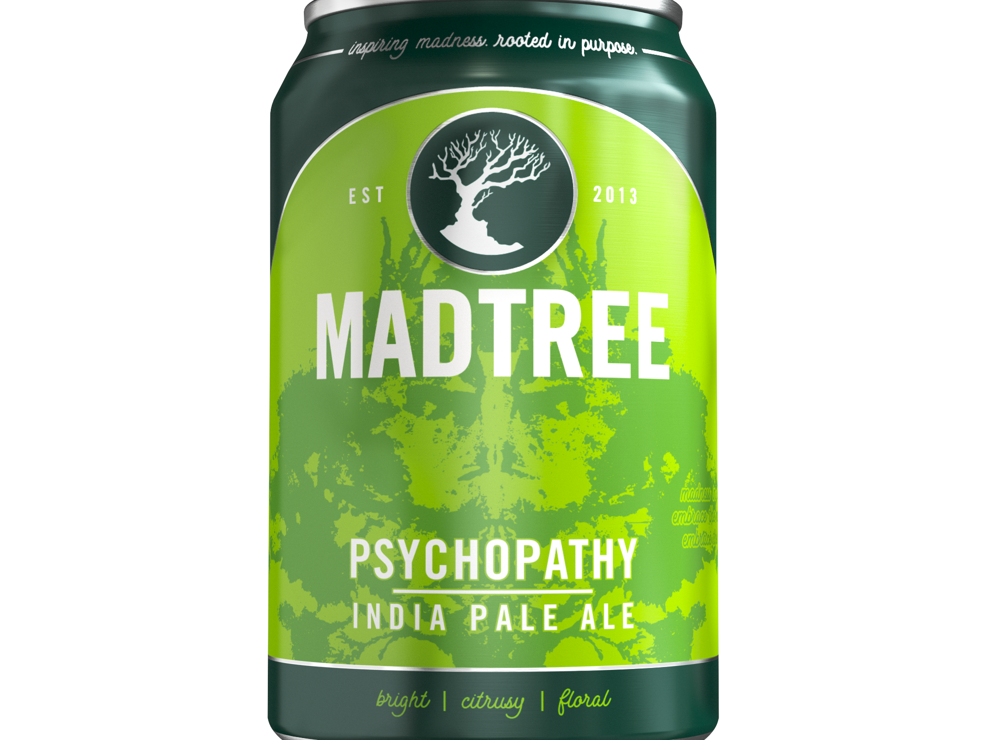 MadTree Brewing is rolling out redesigned cans beginning in early March. Pictured is a Psychopathy can.
