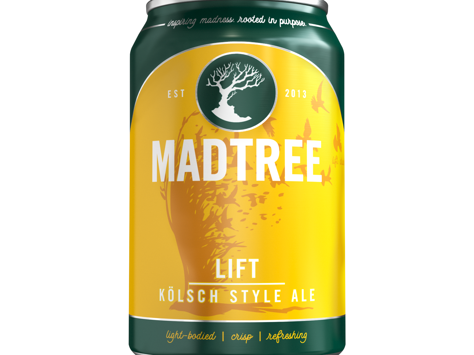 MadTree Brewing is rolling out redesigned cans beginning in early March. Pictured is a can of Lift.