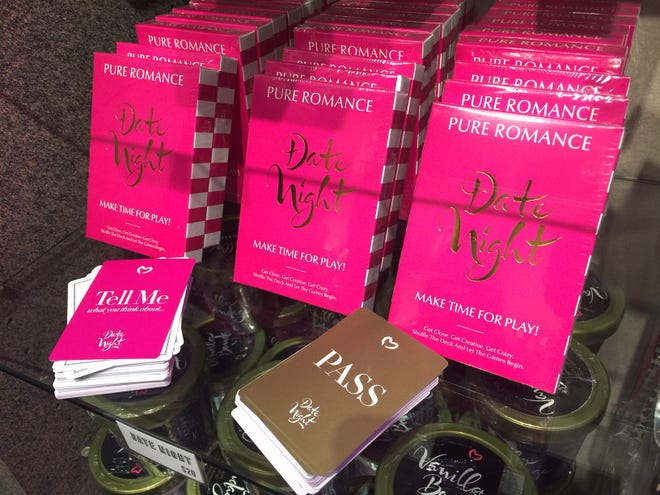 Pure Romance offers a full line of fun items to spice of your sex life, including this Date Night card game.