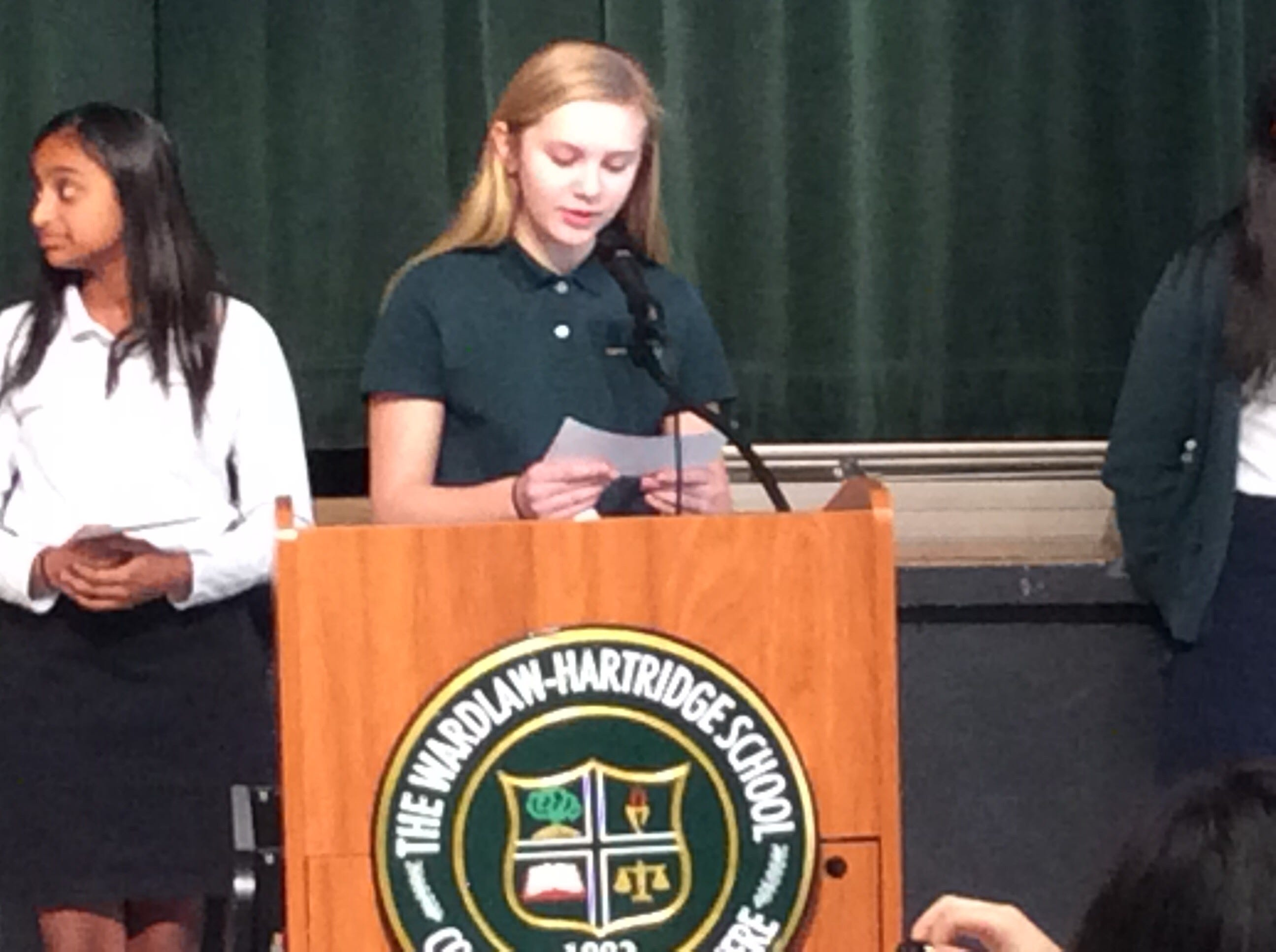 Sydney Geissler of Metuchen leads the discussion at the tribute to Martin Luther King, Jr.