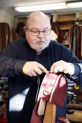 Dennis Knight is the owner of River Ridge Leather Company in Roscoe Village, one of the many unique shops found in the village.