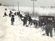 From 1936: Students in Dewar shoveled out a 2-mile stretch of gravel road to get to Highway 20.