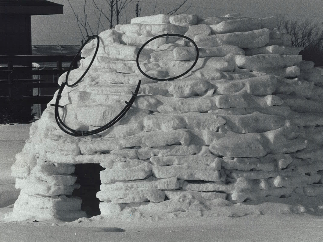 From 1982: One way to cope with ice, snow and extreme cold is to have fun with it. Glen Zirbel built this igloo in front of his house on NW 84th Avenue.