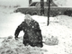 From 1982: Mrs. Io McGilvra shovels out her plowed-in driveway in the 1900 block of Hubbell Avenue in Des Moines.