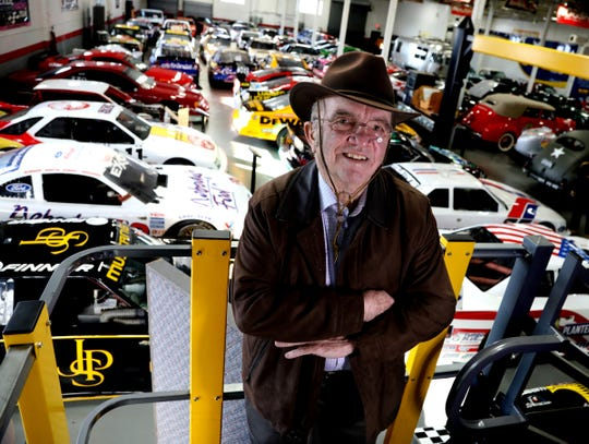 Jack Roush, owner of a NASCAR team and other businesses, stands in his museum full of cars in Livonia, Michigan, on Wednesday, January 30, 2019.    .