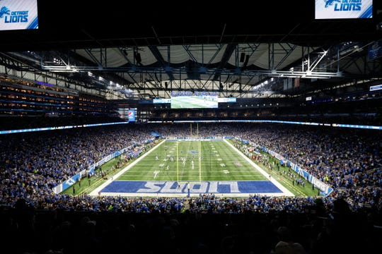 Ford Field, home of the Detroit Lions, in 2018.