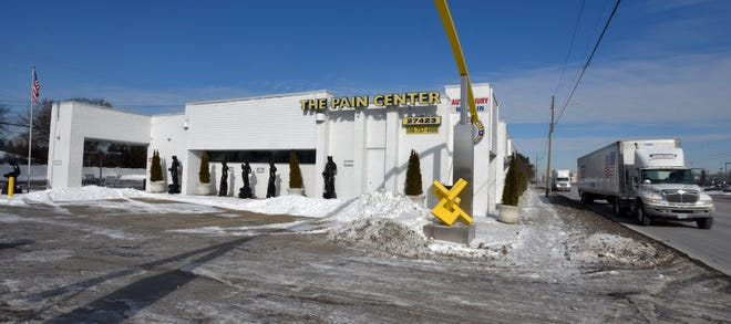This is the south exterior of The Pain Center at 27423 Van Dyke (right) in Warren, Friday morning, February 1, 2019. The Warren health clinic, with Dr. Rajendra Bothra of Bloomfield Township and a five-member medical team, was shut down by federal agents for operating an alleged multi-million dollar healthcare fraud, including, an illicit opioid scheme.