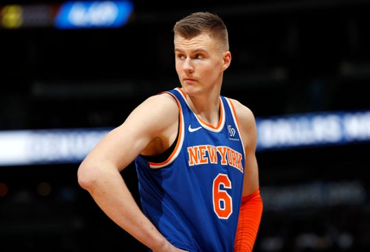 Kristaps Porzingis is joining the Dallas Mavericks, though not in time for Thursday's game against the Pistons.
