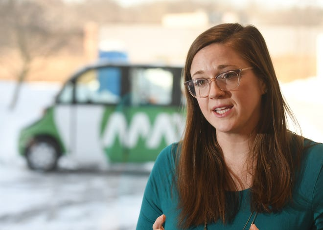 """Alisyn Malek, COO of Ann Arbor-based May Mobility, which operates self-driving shuttles, says the Michigan auto sector requires a different mindset to provide """"a service that you need your customers to consistently want."""""""