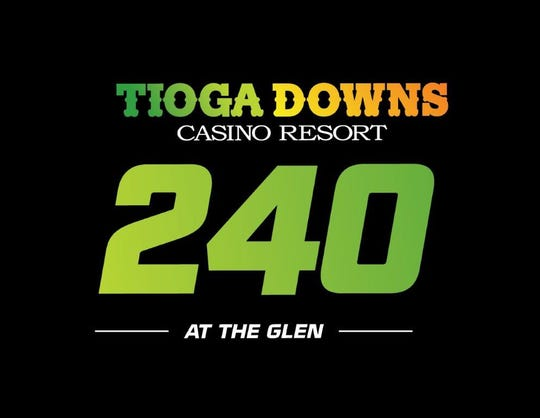 Race logo for the Tioga Downs 240 at Watkins Glen International.