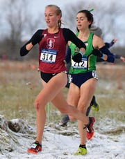 Corning graduate Jessica Lawson runs to 44th place at the NCAA Division I Cross Country Championships on Nov. 17, 2018 in Verona, Wisconsin.
