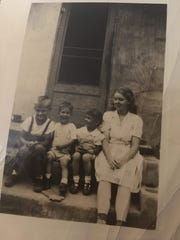 Christine Sutton's mother, Arlene Geer, at right, with her siblings.