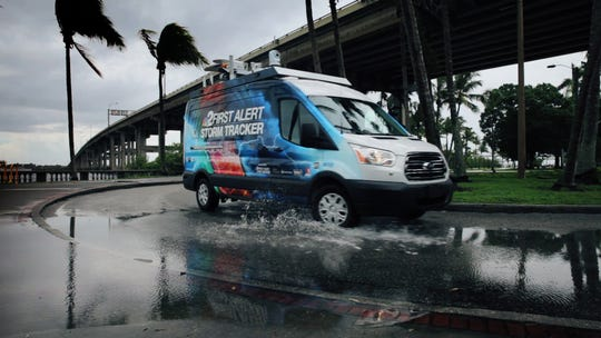 NBC2's  First Alert Storm Tracker mobile weather center