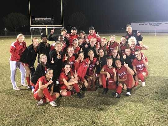 North Fort Myers defeated Cape Coral 2-0 for the District 3A-13 title on Thursday, the Red Knights' third district crown in five seasons.
