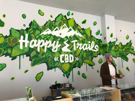 Happy Trails CBD opened its Ashwaubenon store at 2202 S. Ridge Road, on Jan. 25 with Alex Kropp, pictured, as manager. Owners Jason and Kayla Tokarczyk also run a CBD store in Kaukauna.