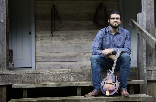 """Nick Dumas of Sturgeon Bay is mandolin player for veteran bluegrass band Special Consensus, whose album """"Rivers and Roads"""" is nominated for this year's Grammy Award for Best Bluegrass Album."""