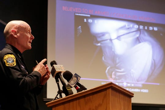 Green Bay Police Chief Andrew Smith speaks at a Feb. 1 press conference about the fatal shooting of  Jonathon Tubby by Green Bay Police.