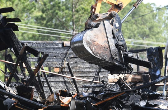 Clemson's Y Barn burned down Friday, February 1, 2019.