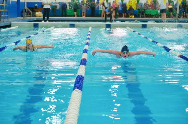 An image from the Great Falls High-C.M. Russell Crosstown Swim Meet this past January at Bill Swarthout Fieldhouse.