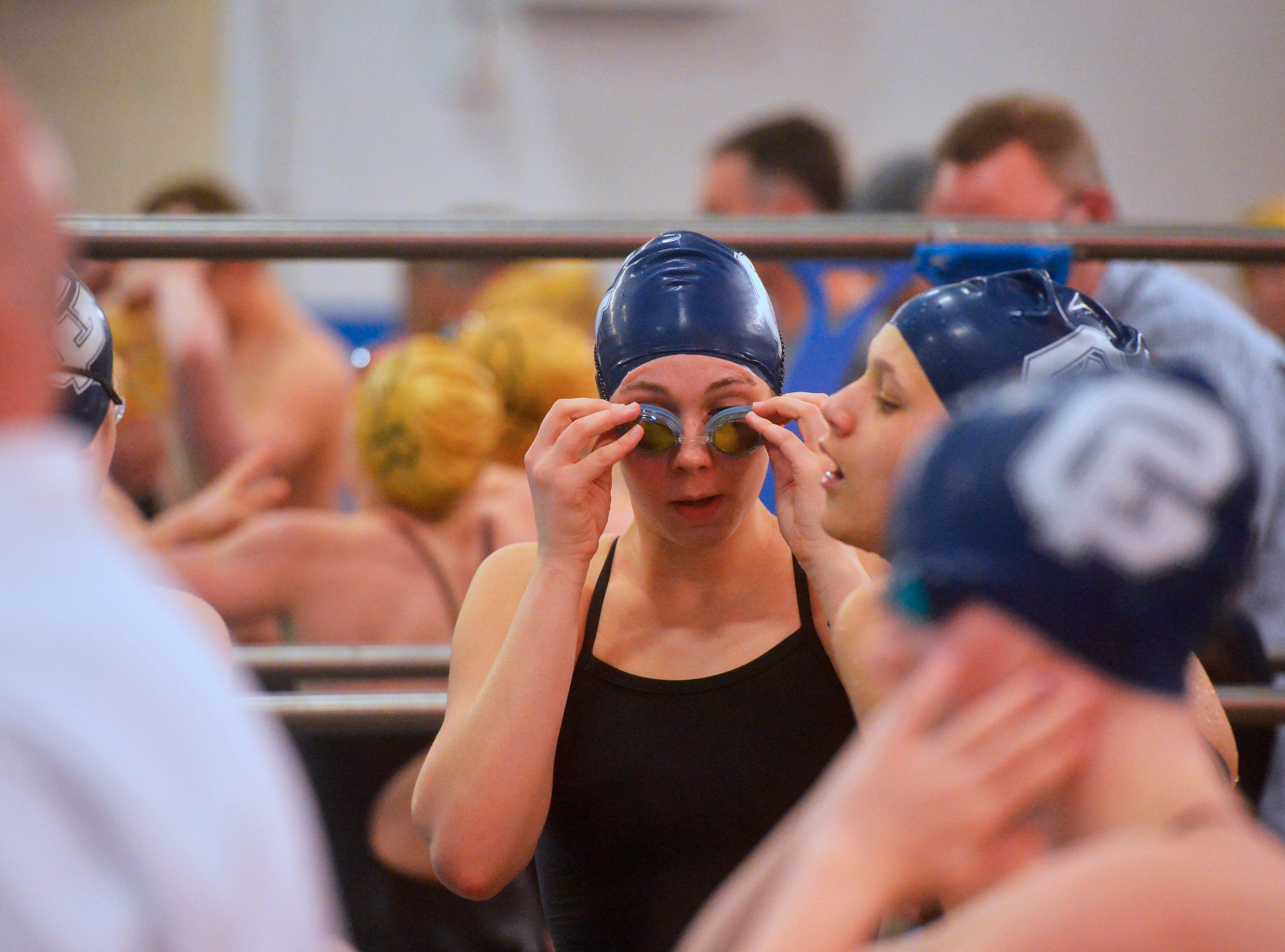 The crosstown swim meet between CMR and Great Falls High, Thursday evening.