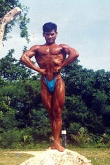 Steve Oshiro during his bodybuilding days in the early 2000s.