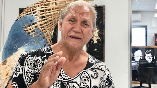 """Guam historian Anthony """"Toni"""" Ramirez talks about education right before, during, and after the Japanese occupation of Guam during World War II, in a Feb. 1, 2019 interview."""