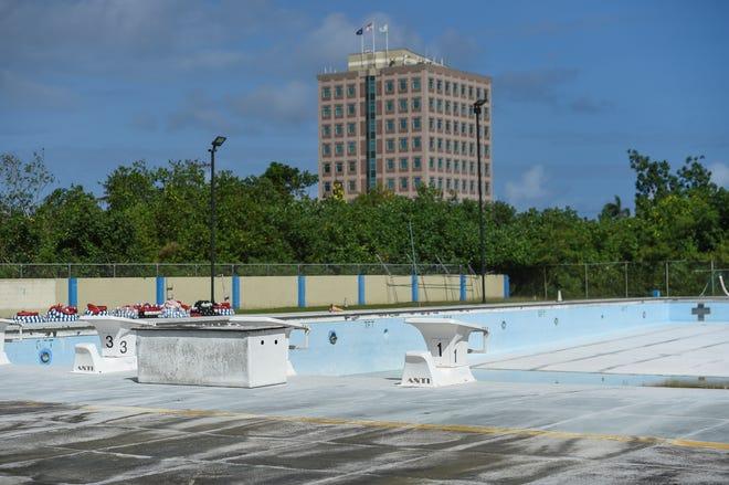 The closed Hagåtña Pool facility on Feb. 1, 2019.