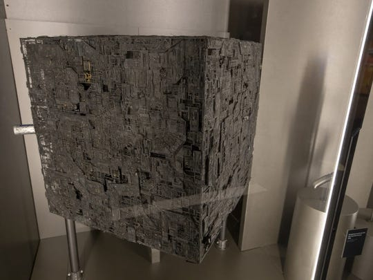 """Borg cube miniature used in 1996 film """"Star Trek: First Contact."""""""