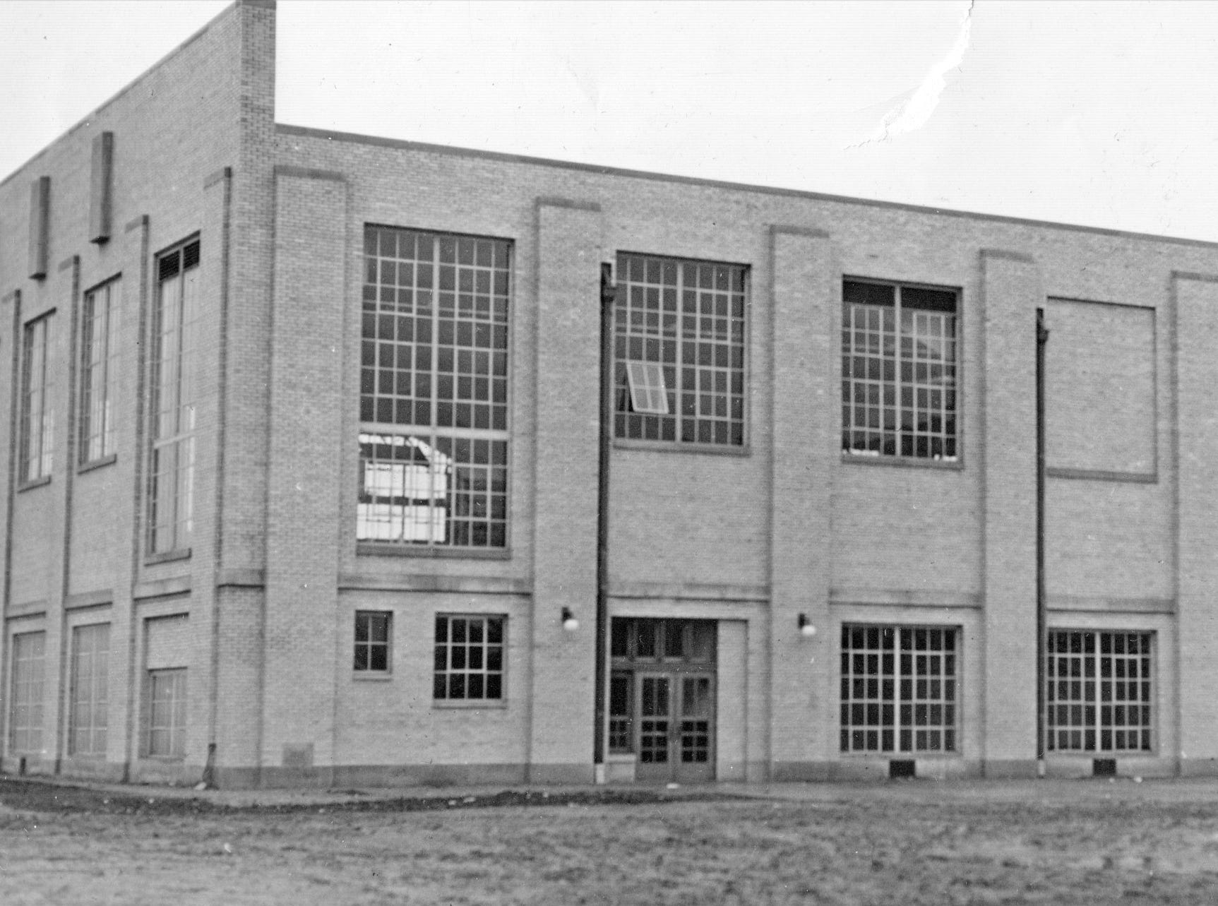 George Washington High School's athletes had a new modern gymnasium in 1938.