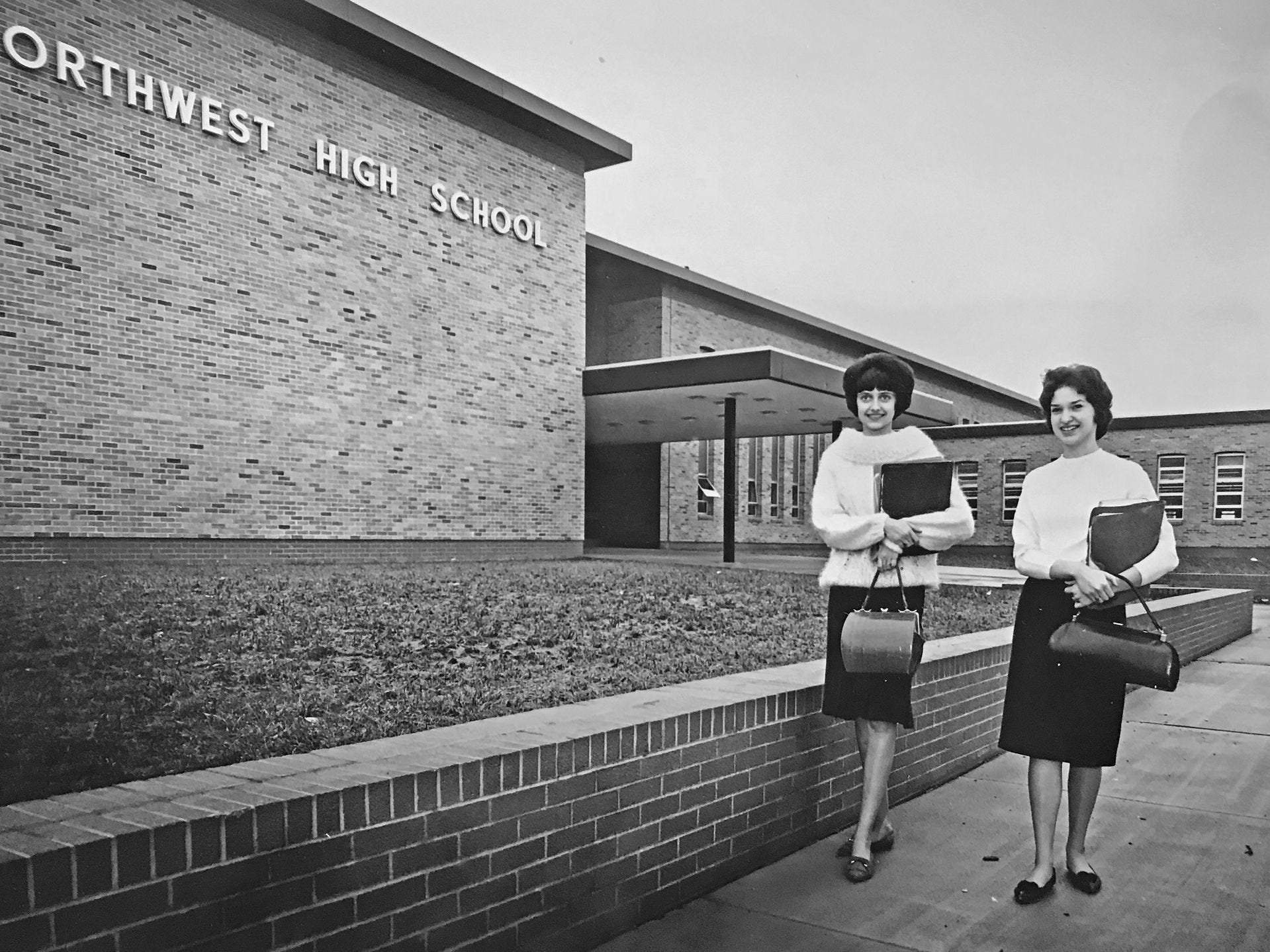 Gilda Eller, left and Phyllis Gugenheim, both juniors were just two of the new students at Northwest High school in 1964.